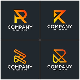 Буква r дизайн логотипа