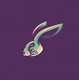ウサギ動物のロゴ