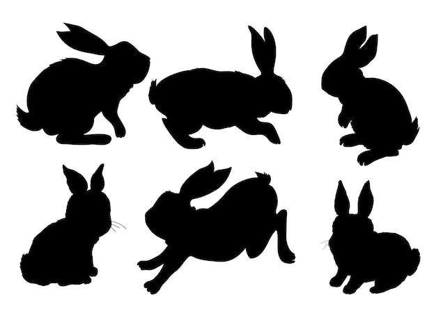 Силуэт животного кролика