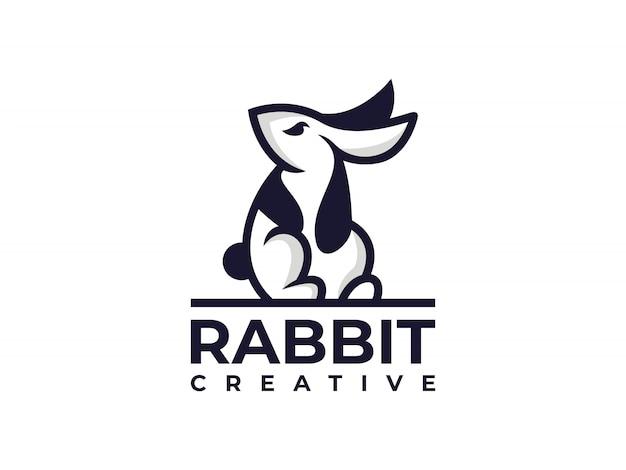 Кролик банни креативный дизайн логотипа шаблон