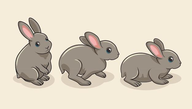 ウサギ漫画バニーかわいいうさぎ