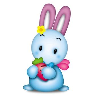 ウサギの漫画かわいい動物野生のペットバービーキャラクター人形甘いモデル感情アート