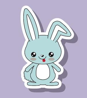 Rabbit character kawaii style