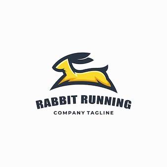 Rabbit color vector template