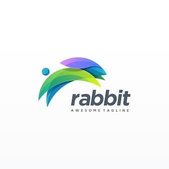 Rabbit colorful design.