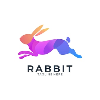 Кролик красочный логотип