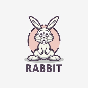 Rabbit cute logo template