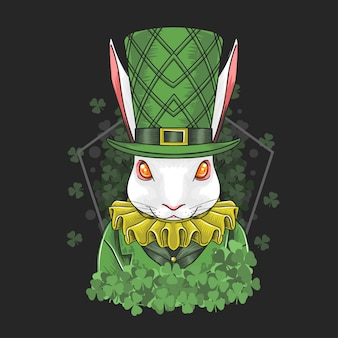 Rabbit easter & st. patrick's day