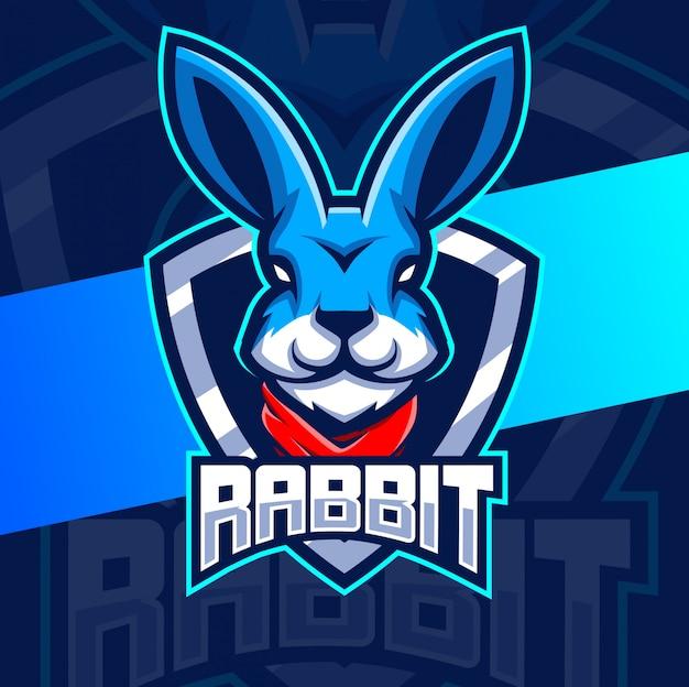 Логотип талисмана кролика