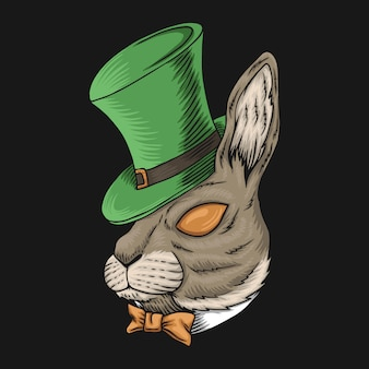 Rabbit head for st. patrick's day