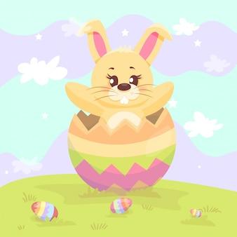 Кролик внутри пасхального яйца