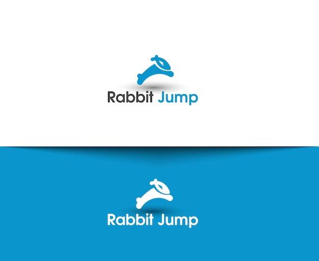 토끼 점프 웹 아이콘 및 벡터 로고
