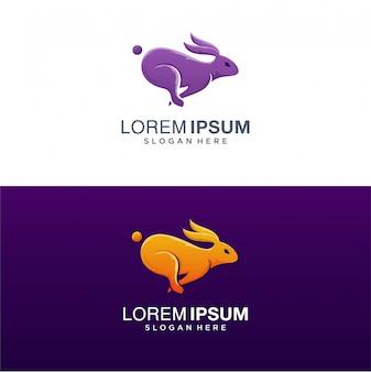 Rabbit logo, colorful rabbit logo