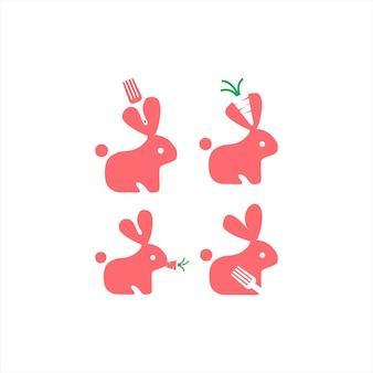 Rabbit logo design collection