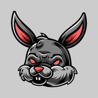 토끼 로고 디자인 마스코트 일러스트