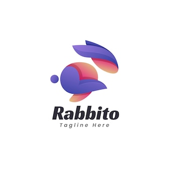 Rabbit logo template design