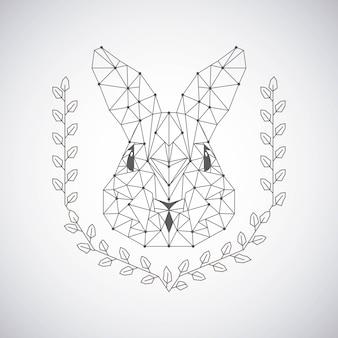 Rabbit low poly