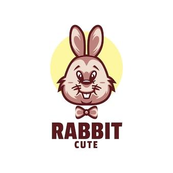 Шаблон логотипа в мультяшном стиле кролика