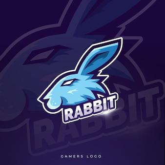 Кролик талисман киберспорт дизайн логотипа