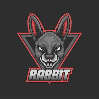 ゲームのロゴのウサギのマスコット
