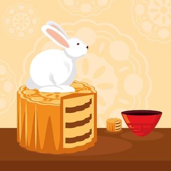 Rabbit on mooncake