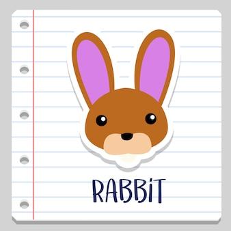 Rabbit notebook clip art