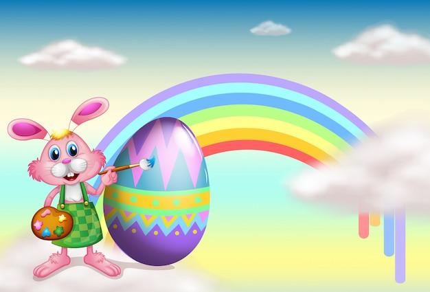 A rabbit and a rainbow