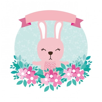 Rabbit round icon