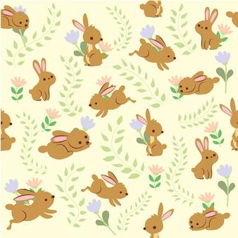 Rabbit seamless pattern