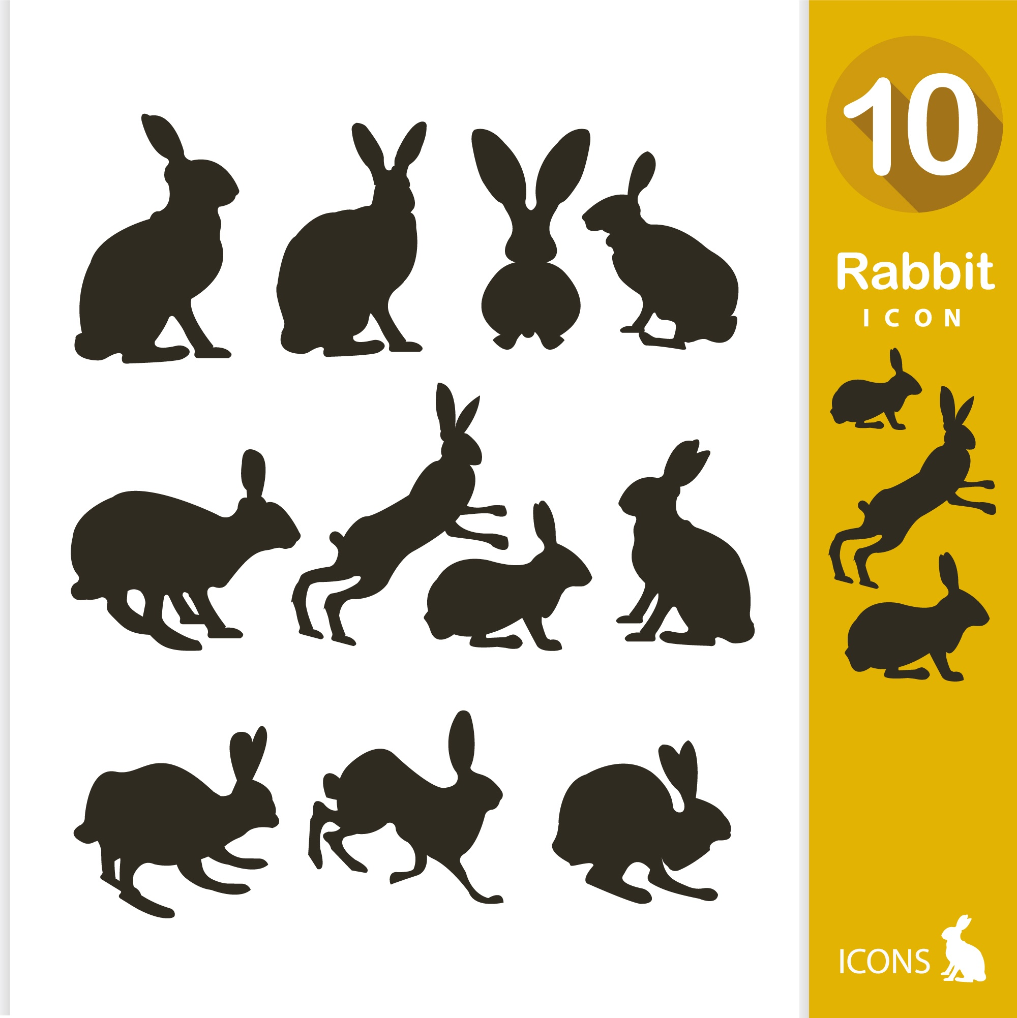 Rabbit silhouette collection