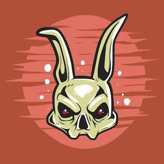 Характер черепа кролика