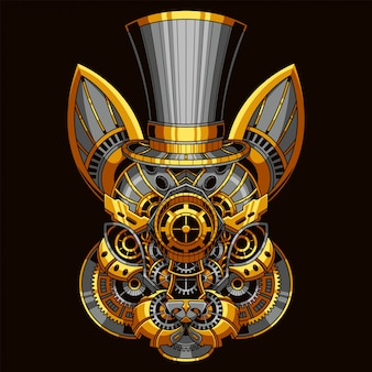 Rabbit steampunk illustration