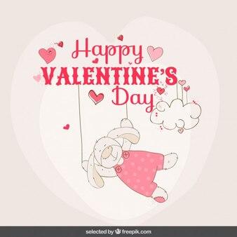 Rabbit valentine card