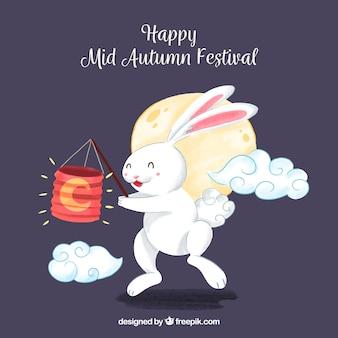 Кролик с фонарем, фестиваль середины осени