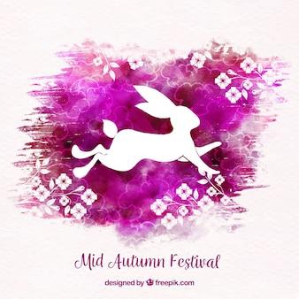 Кролик с акварелью, фестиваль середины осени