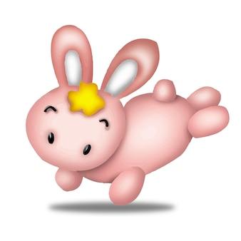 ウサギ漫画かわいい動物野生ペットバービーキャラクター人形甘いモデル感情アート