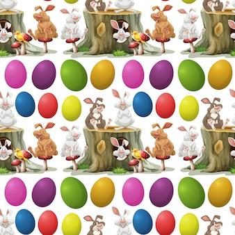 Кролики и красочные яйца