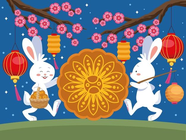 Кролики на фестивале середины осени