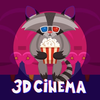 Raccoon Cinema Poster