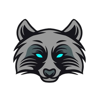 Логотип талисмана головы енота