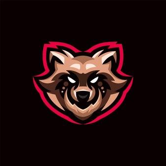 アライグマのロゴのマスコット