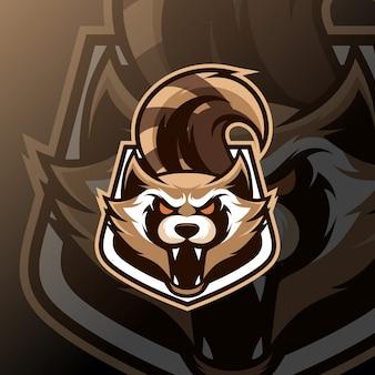 Raccoon mascot esport logo