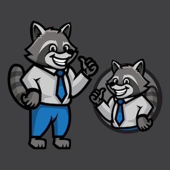 Raccoon mascot illustration