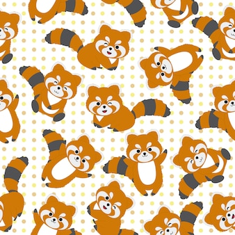 Raccoon pattern background