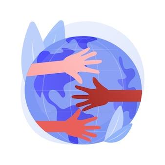 Расы абстрактное понятие векторные иллюстрации. расовая дискриминация, права человека, цвет кожи, человеческое разнообразие, генетический код, расизм и расовое равенство на рабочем месте, абстрактная метафора социальной справедливости.