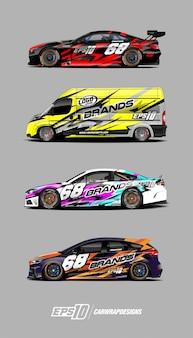 Race car decal set designs