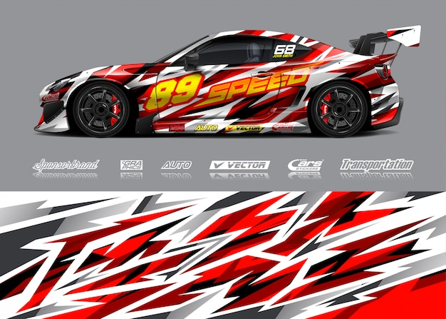 Race car livery illustration