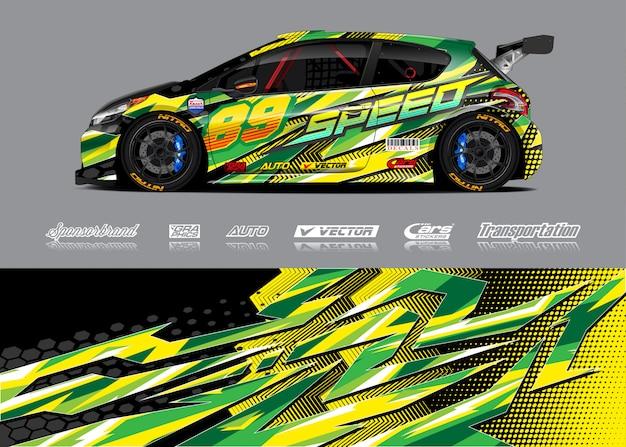 Race car wrap illustration