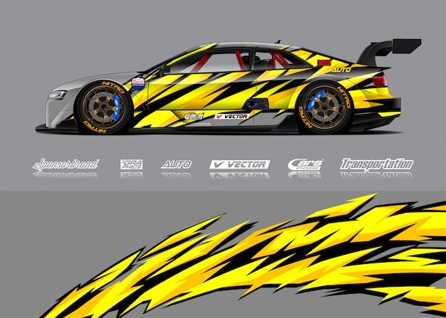 Race car wrap illustrations