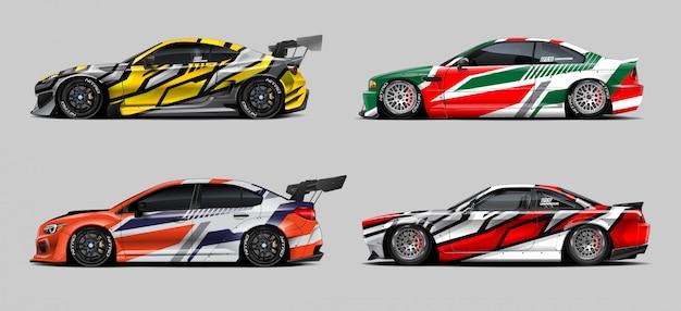Race car wrap set